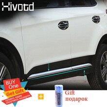 цены Accessories for Hyundai Creta ix25 Car Door Body Decoration Strip Hivotd 2017 2018 2019 ABS Chrome Styling Exterior Trim Cover