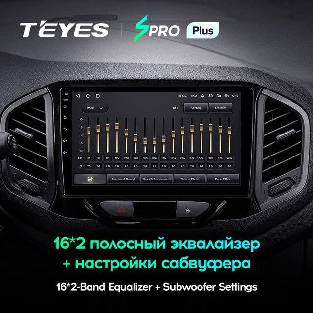 TEYES SPRO Plus Штатная магнитола For Лада ВАЗ Xray For LADA Xray X ray 2015 - 2019 Android 10, до 8-ЯДЕР, до 4 + 64ГБ 32EQ + DSP 2DIN автомагнитола 2 DIN DVD GPS мультимедиа автомобиля головное устройство 3