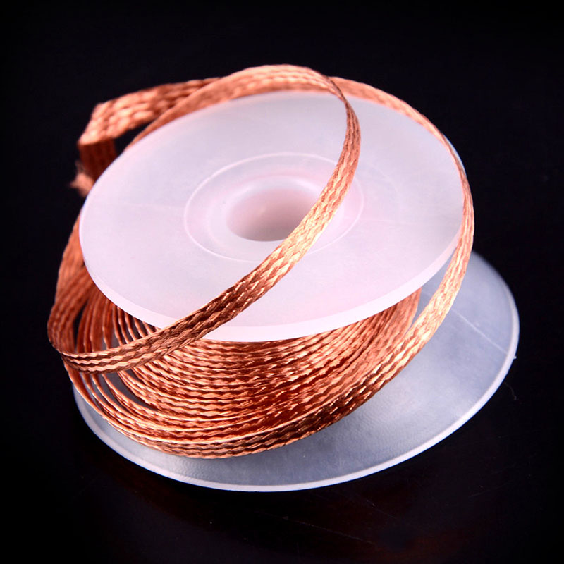 Quality Pure Copper Weave Welding Wire 1PC 3.5mm 2.5mm 2.0mm 3.0mm 1.5M Welding Wires Desoldering Braid Solder Remover Wick Wire