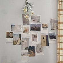 Card-Set Wall-Sticker Photography-Props Photo-Decoration Art Printing Diy 30-Sheets Colour
