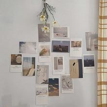 Korean Ins – Photographie et carte postale de décoration murale, 30 pièces, feuille d'art, impression pour le mur de la chambre, autocollant à couleur, ensemble bricolage photo, accessoires de colocation