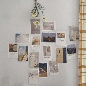 Korean Ins Photo Decoration Card Set 30 Sheets Art Photography Props Collocation Postcard Diy Room Wall Sticker Colour Printing