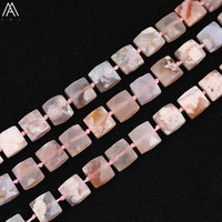 Middle Drilled Natural Cherry Agates Square Loose Beads Pendant Strand,Agates Stone Cube Beads Charms Jewelry DIY EF CT 322AMFJ