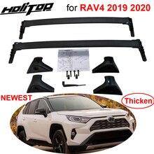 Neue ankunft horizontale dach rack bar Quer dach schiene kreuz bar für Toyota RAV4 2019 2020, aluminium legierung, UNS orignal stil