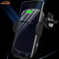 전화 자동차 무선 충전기 수신기 홀더 빠른 충전 패드 독 스탠드 아이폰 11 삼성 노트 forHaiWei
