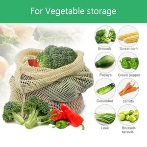 Image 5 - 30pcs 15pcs Reusable Produce Bags Organic Cotton Washable Mesh Bags for Grocery Shopping Fruit Vegetable Organizer Storage Bag