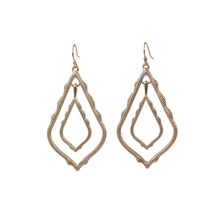 2020 Hot Selling Hollow Out Double Water Drop Cooper Dangle Earrings Hot Brand Statement Women Fashion Earrigns 2020 hot selling hollow out big oval dangle earrings hot brand statement women fashion earrigns