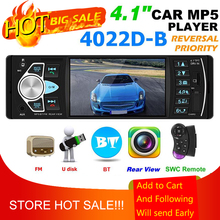 4022D Dàn Âm Thanh Xe Hơi MP5 Nghe Bluetooth USB Thẻ TF AUX Đài Phát Thanh Trong Dash Đầu Thu Hỗ Trợ Đảo Chiều Hình Ảnh Và Video Đầu Ra