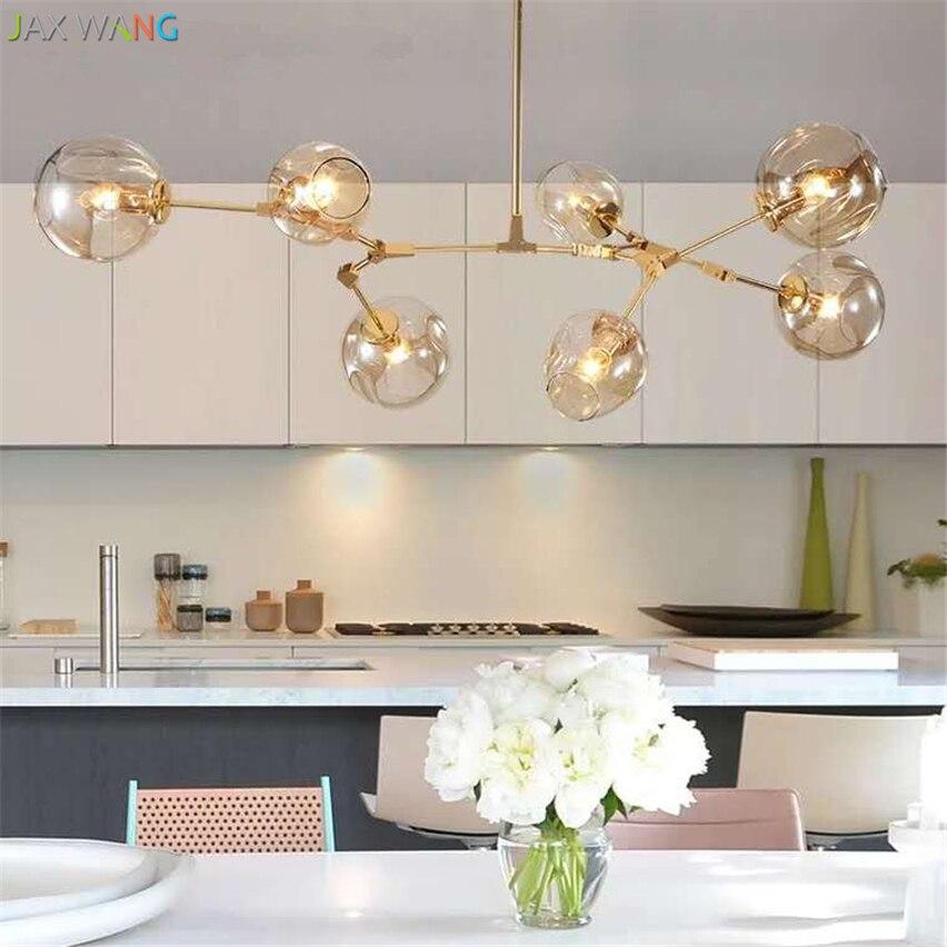 Modern Glass Pendant Light Nordic Pendant Lamps Dining Room Kitchen Light Designer Hanging Lamps Avize Lustre Lighting Luminaire