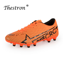 Unisex Football Sneakers Breathable Comfort Lining Orange Children's Football Training Shoes Non-slip Hard Outdoor Sports Shoes li ning men 24h smart quick training shoes breathable comfort lining wearable sports shoes anti slippery sneakers afhn019 yxx024