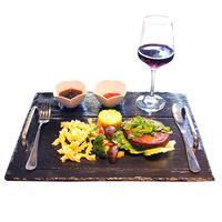 Natürliche Schiefer Platte Käse Bord Gourmet Serving Platter Kuchen Tablett mit Griff Schiefer Platte Käse Bord