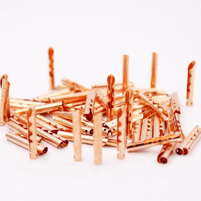 50 Uds cobre bronce BFA 4mm conector de Cable de altavoz de tipo Z