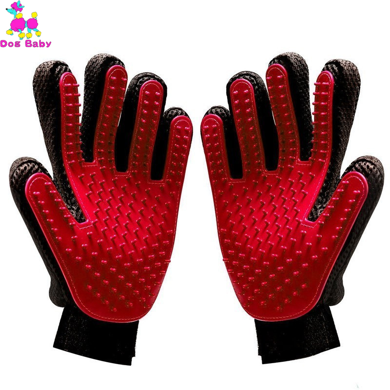 Pet Silicone Dog Pet Brush Glove Grooming Brush Pet Grooming Glove Cat Bath Cat Cleaning Supplies Pet Glove Cat Comb Accessoies