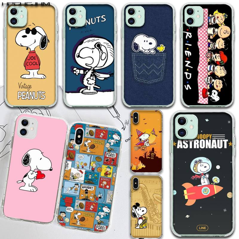 Cartoon Peanuts Charlie Brown beagle hund Süßigkeiten Telefon Fall <font><b>Capa</b></font> für <font><b>iPhone</b></font> 11 pro XS MAX 8 7 6 <font><b>6S</b></font> Plus X 5S SE 2020 XR abdeckung image