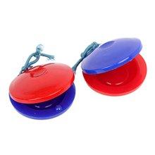 Orff World пластик Кастанет круглый красный синий детская музыкальная игрушка ударные инструменты Музыкальный ритм чувство раннее образование