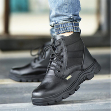 Safetoe Safety Shoes with Steel Toe Cap Anti-smashing Work Safety Boots with Waterproof Leather for Men and Women Botas Hombre