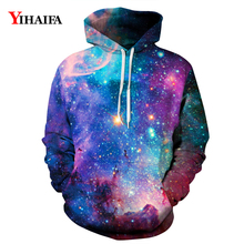 Mens Womens 3D Hoodies Colorful Space Galaxy Star Sweatshirt Graphic Casual Coat Pullover Tracksuit Couples Tops