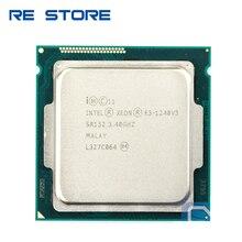 تستخدم إنتل زيون E3 1240 V3 المعالج 3.40GHz 8M مخبأ SR152 LGA1150 E3 1240v3 وحدة المعالجة المركزية