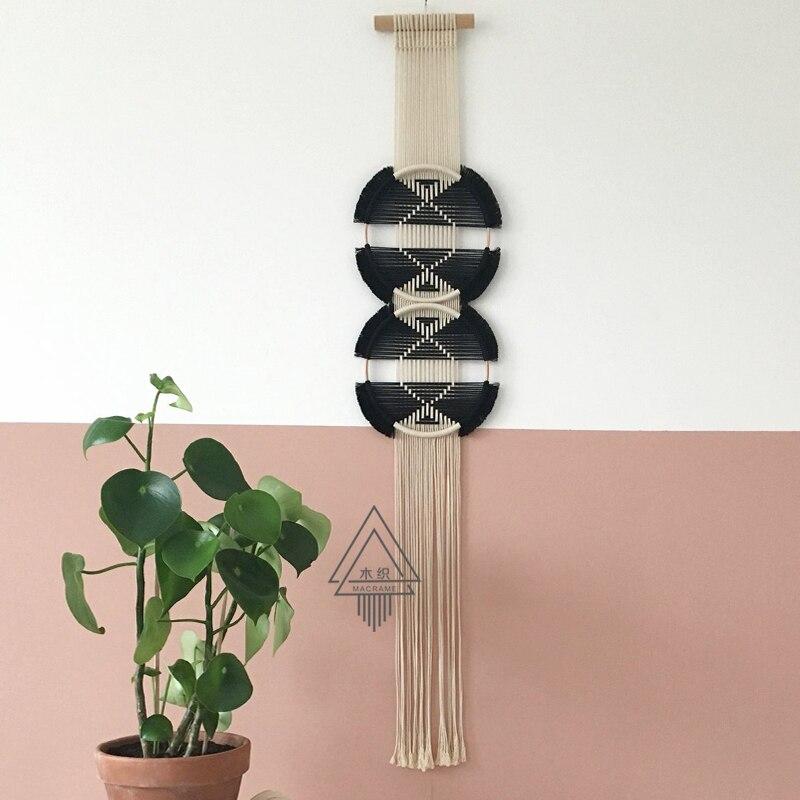 100% ручной работы творческое, настенное плетеное гобелен Скандинавское украшение домашний Ловец снов украшение для дома - 6