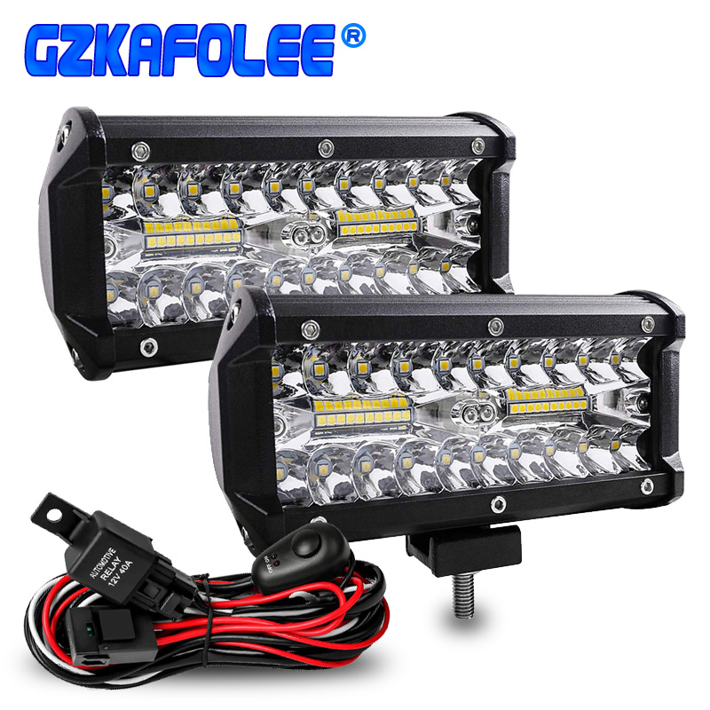 70W Led Bar Led Car Headlight Fog Light Spot Flood Combo Work Lights For Auto Off Road 4x4 For Jeep SUV Motorcycles Truck UTB
