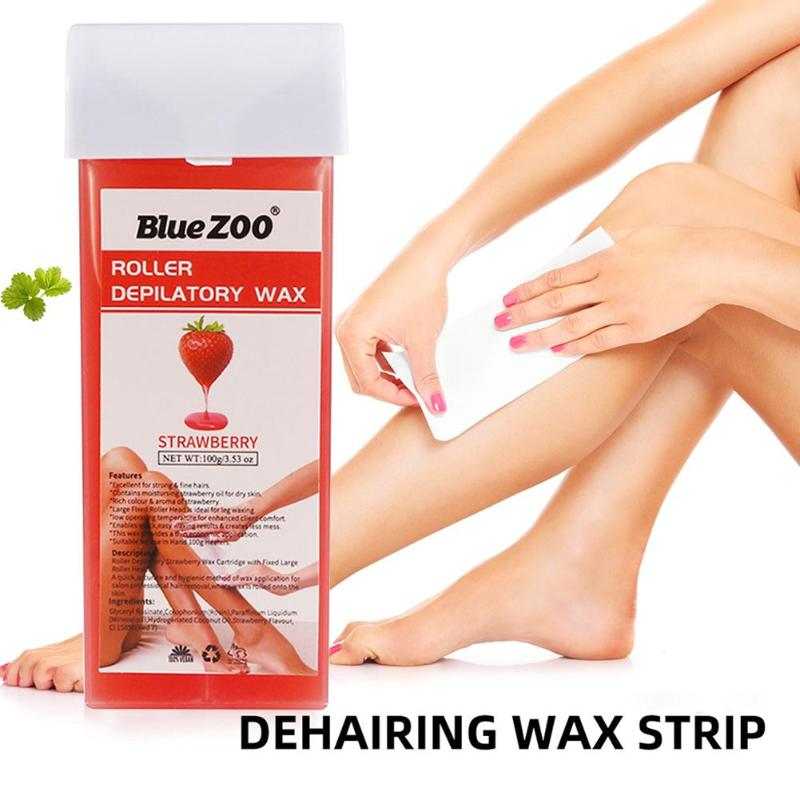 Hot Hair Removal Depilatory Wax Cartridge Heater Waxing Honey Flavor For For Women/Men Hair Removal 100g Depilatory Wax
