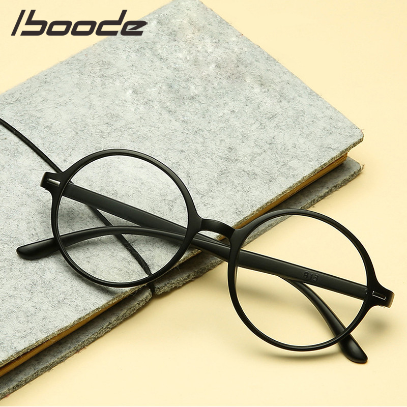 IBOODE Round Reading Glasses Women Men Presbyopic Eyeglasses Female Male Hyperopia Eyewear TR90 Diopter Magnifying Spectacles