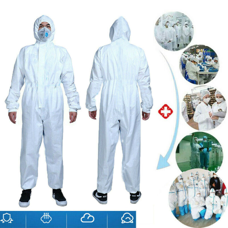 Reusable Coverall Jumpsuit Safety Clothing Surgical Medical Protective Overall