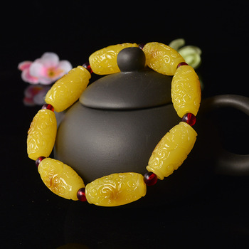 Hand-carved flower beeswax bracelet Men's and women's bracelets beeswax bracelets фото