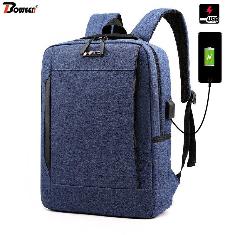 Light Laptop Backpack Men 13.3 Inch Waterproof Oxford Male Back Pack Women Bagpack Large Capacity School Bags Black USB Charging