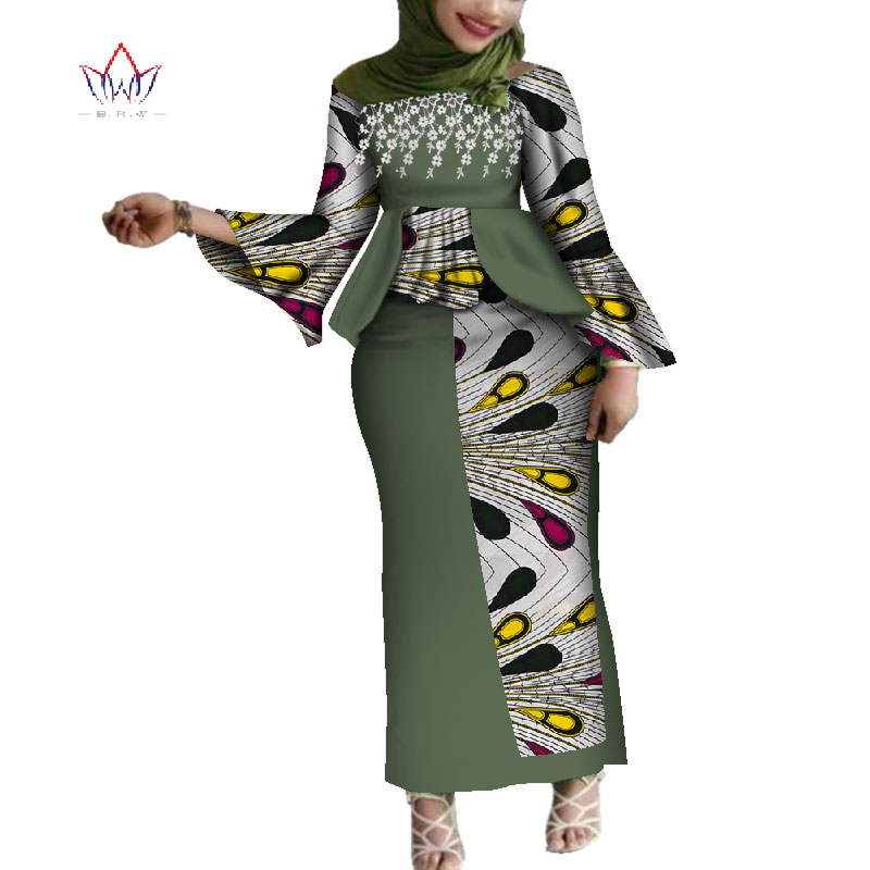 Plus Size Fashion African Sets For Women Dashik Private Custom Traditional African Clothing Sexy African Skirt Set WY4217