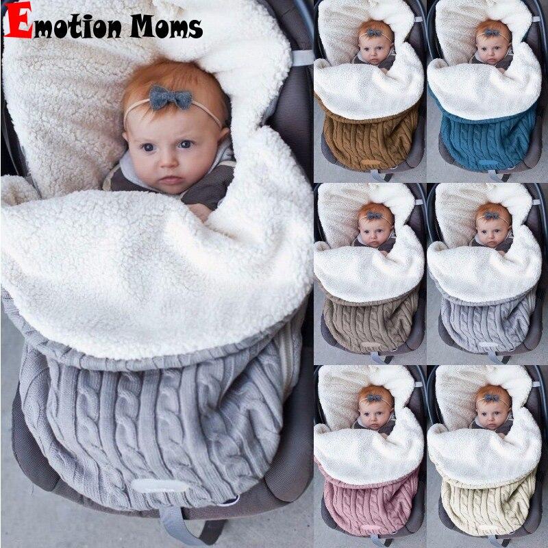 outono inverno quente da crianca recem nascidos saco de dormir carrinho de bebe com cobertor de