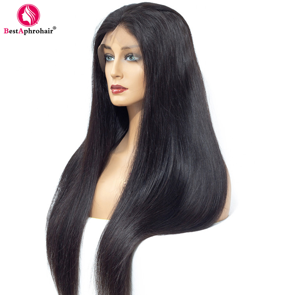 13*4 Lace Front Human Hair Wigs For Black Women Pre Plucked Brazilian Straight Remy Human Hair Wigs With Baby Hair