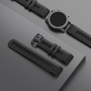 Image 3 - Bracelet de montre Original 22mm (largeur) Bracelet en silice pour Xiaomi Huami Amazfit GTR (47mm) Pace Stratos série