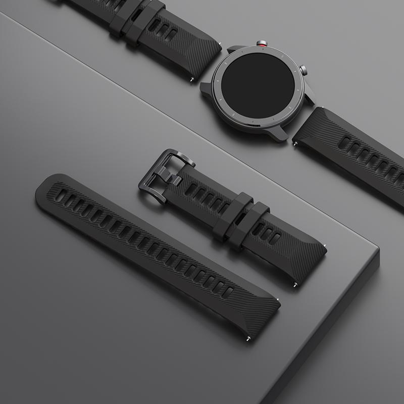 Image 3 - Original Watch Strap 22mm(Width) Silica Bracelet for Xiaomi Huami Amazfit GTR(47mm) Pace Stratos SeriesSmart Accessories   -