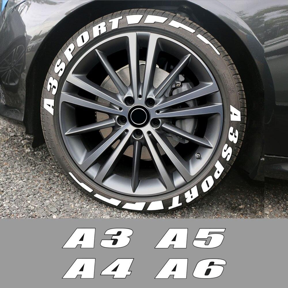 3D stałe gumowe litery opona samochodowa naklejki na Audi A3 8P S3 8V A4 B8 B6 A6 C6 C5 C7 A1 A2 A5 A7 A8 samochód sportowy akcesoria