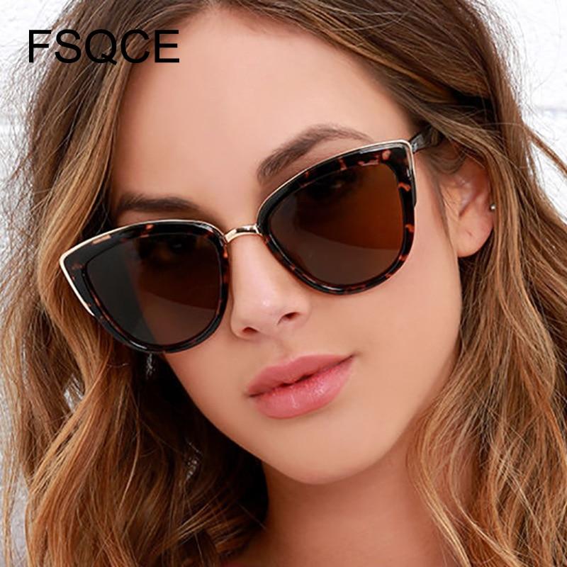 الفاخرة القط العين النظارات الشمسية النساء الفاخرة العلامة التجارية مصمم خمر التدرج نظارات الرجعية القط العين نظارات شمسية الإناث نظارات UV400