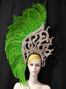 Image 5 - Coiffe de danse latine Samba, accessoires de mode, plumes, spectacles de danse délicates, accessoires pour vêtements