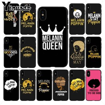 2bunz Melanin Poppin Aba Pattern Soft Phone Accessories Cell Case For iPhone X 11PRO MAX 8 7 6S Plus XS MAX 12pro 5S SE XR Cover image