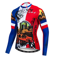 Race 2019 Bicycle MTB Jersey Men Cycling Clothes Bicycle Wear Downhill DH Jerseys Long Sleeve Motocross Bike Shirt Clothing Red