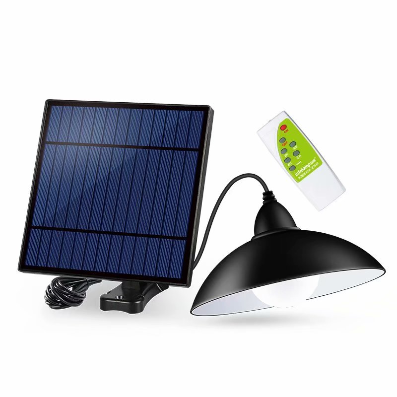 Chandelier Solar LED Light With Remote Control Solar Lamp Retro Lampshade Bulb Solar Panel 9.8ft Cord Outdoor Solar Garden Light