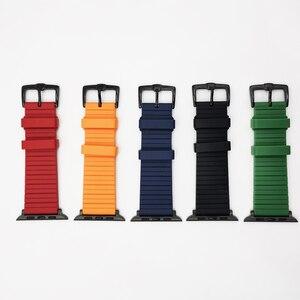 Image 3 - סיליקון שעון להקת עבור אפל שעון 6 5 4 42mm 44mm להקת 38mm 40mm רצועת צמיד iWatch סדרת 6 5 4 3 2 1