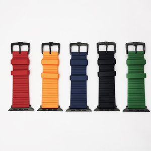 Image 3 - Silicone Watch band for Apple Watch 6 5 4 42mm 44mm Band 38mm 40mm Strap Bracelet iWatch Series 6 5 4 3 2 1