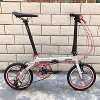 YNHON 14 inch Single speed Outer Three speed 16 inch Folding Bicycle children bike mini modified