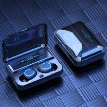 Hifi стерео беспроводные наушники tws bluetooth гарнитура светодиодный
