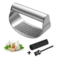 Cooking-Gadgets-Tool Chopper Garlic-Press Grinding-Slicer Manual Stainless-Steel Multifunctional