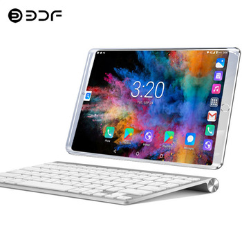 New System 10.1 inch Tablet PC 3G/4G Phone Call Android 7.0 Wi-Fi Bluetooth 6GB/64GB Octa Core Dual SIM Support Tablet+keyboard
