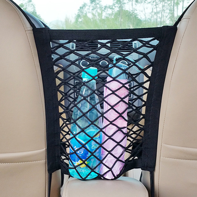Strong Elastic Car Mesh Net Bag Between Car Organizer Seat Between Bag Luggage Holder Pocket For Vehicles