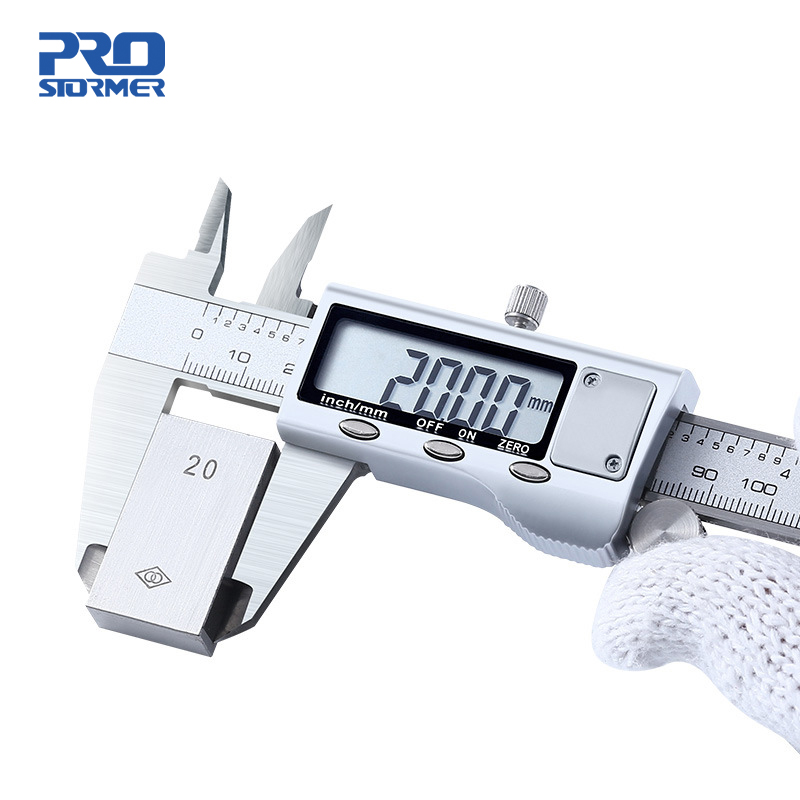 Штангенциркуль из нержавеющей стали 0 150 мм, ЖК цифровой штангенциркуль 6 дюймов, микрометр, измерительные инструменты для глубины от PROSTORMER|Штангенциркули|   | АлиЭкспресс