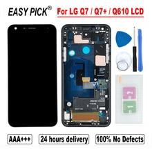 Для LG Q7 / Q7 + Q610 Q610MA Q610TA Q610YB CV5A Q610EA MT6750S Q610NM Q610EQ Q610M ЖК дисплей кодирующий преобразователь сенсорного экрана в сборе