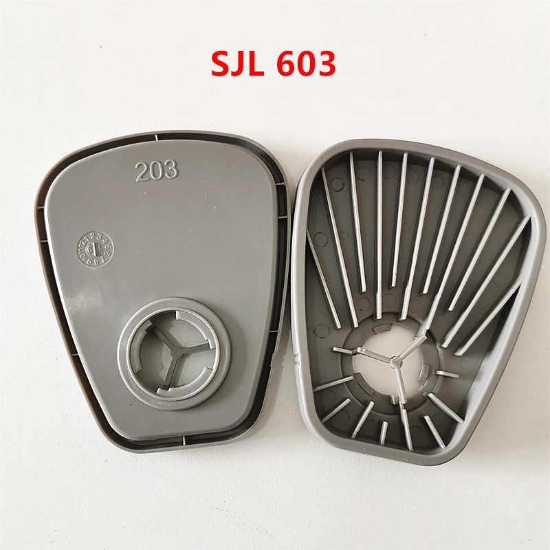 1 زوج SJL 603 مهايئ المرشح منصة لربط 5N11 و 5P71 مرشحات استخدام 3M 6200 7502 6800 قناع نفس 3M 603 فعالية